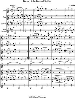 Sheet Music Dance of the Blessed Spirits