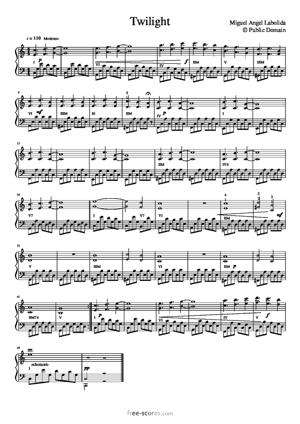 Sheet Music Twilight