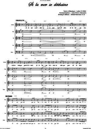 Sheet Music Si la mer se dechaine