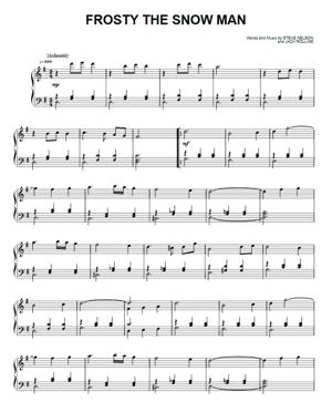 Sheet Music Christmas Sheet Music - Frosty The Snow Man