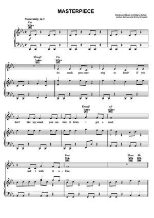 Sheet Music Jessie J - Masterpiece