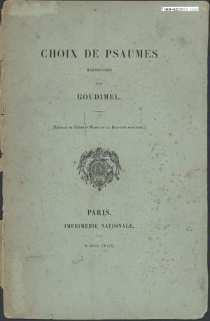 Sheet Music Choix de psaumes / harmonisés par Goudimel