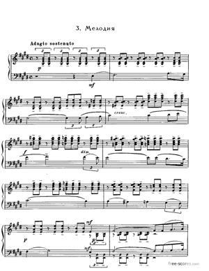 Sheet Music Mélodie in E major