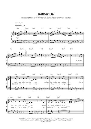 Sheet Music Clean Bandit - Rather Be