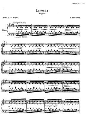 Sheet Music Asturias (Leyenda)