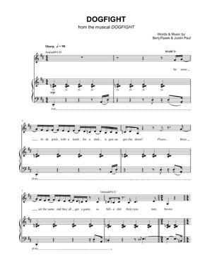Sheet Music from Dogfight - Dogfight