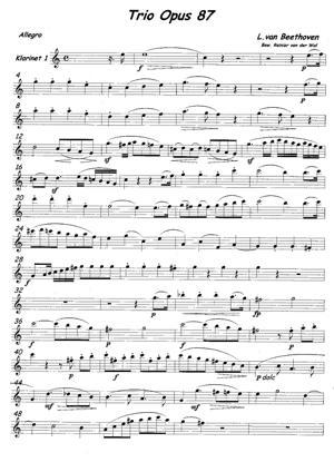 Sheet Music Trio Opus 87