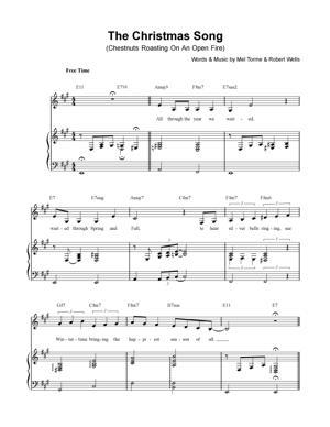 Sheet Music Christmas Sheet Music - The Christmas Song