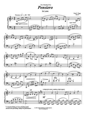 Sheet Music Pensiero