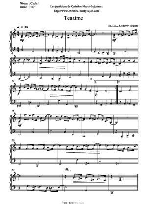 Sheet Music Christine LEJON - TEA-TIME