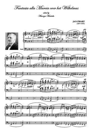 Sheet Music Fantasia alla Marcia over het Wilhelmus