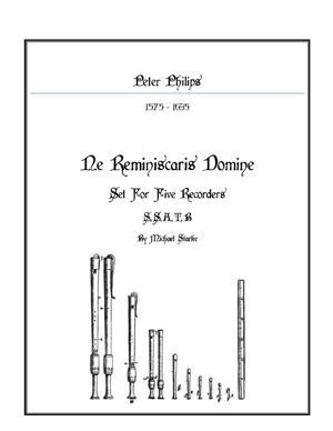 Sheet Music Ne Reminiscaris Domine
