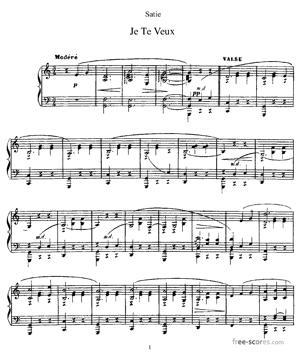 Sheet Music Je Te Veux