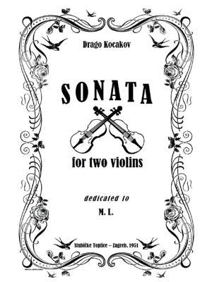 Sheet Music Sonata for Two Violins 'Intimus'