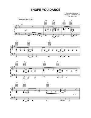 Sheet Music Lee Ann Womack - I Hope You Dance