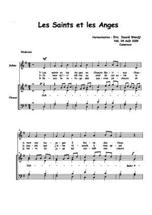 Sheet Music Les saints et les anges
