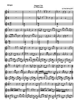 Sheet Music Ragged Trio