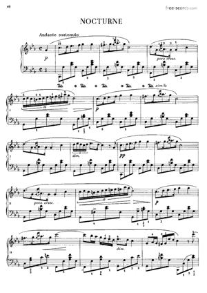 Sheet Music Nocturne in C minor (Posthumous)