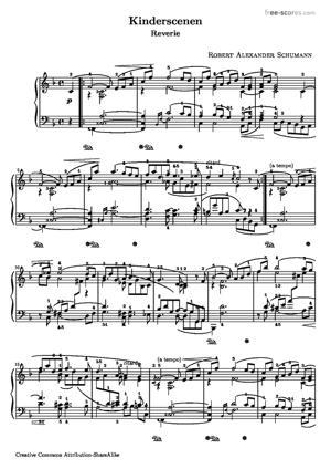 Sheet Music Robert Schumann - Scenes from Childhood - Dreaming - Träumerei