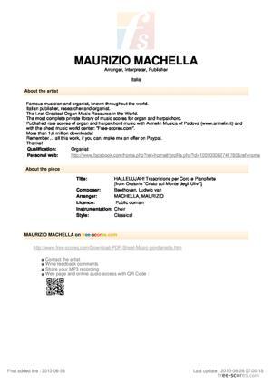 Sheet Music HALLELUJAH! Trascrizione per Coro e Pianoforte