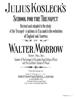 Sheet Music School for the Trumpet