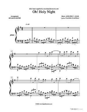 Sheet Music Oh! Holy Night