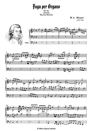 Sheet Music Orgel-Fuge in g-moll KV.401
