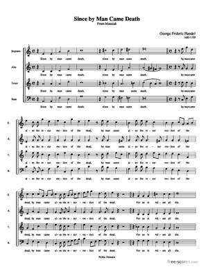 Sheet Music Since by man came death