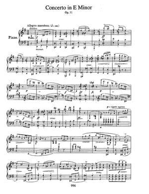 Sheet Music Concerto n° 1 en mi mineur