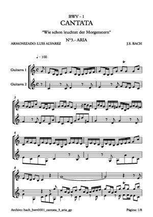 Sheet Music bach bwv0001 cantata 3 aria(b) gp