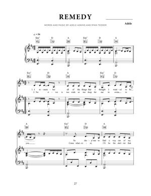 Sheet Music Adele - Remedy