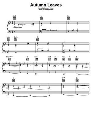 Sheet Music Bob Dylan - Autumn Leaves