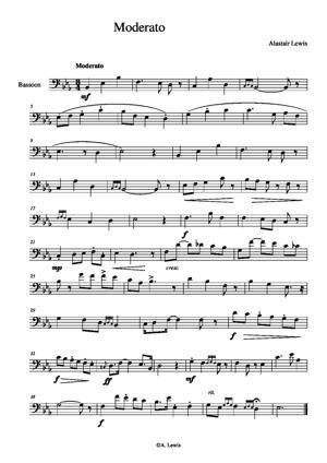 Sheet Music Op.2 no.4 Moderato
