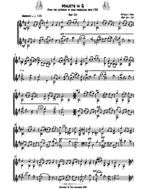 Sheet Music Minuets in G