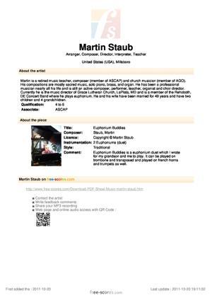 Sheet Music Euphonium Buddies