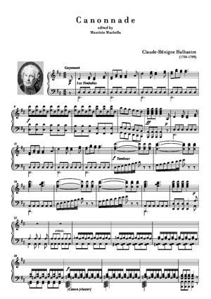 Sheet Music Canonnade pour Orgue