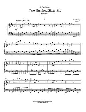 Sheet Music Sonatina in D