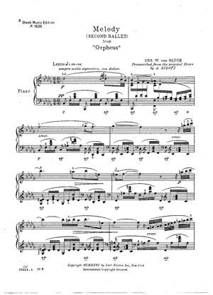 "Sheet Music Ballet ""Orpheus"""