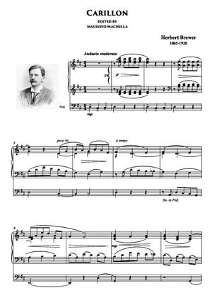 Sheet Music Carillon (from a Little Organ Book in Memory of C.H.H.Parry)