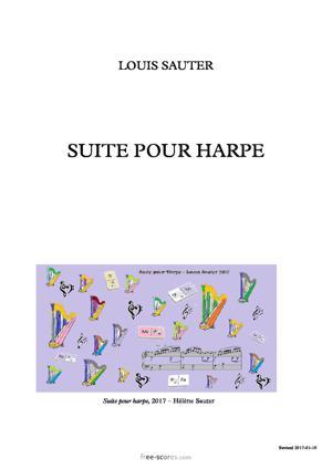 Sheet Music Suite pour harpe
