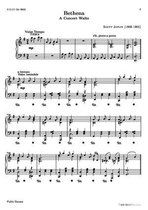 Sheet Music Bethena