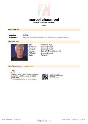 Sheet Music Harmonica strut