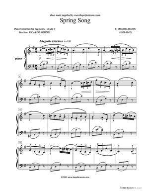 Sheet Music Spring Song