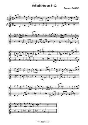 Sheet Music Mélodithèque 3-12