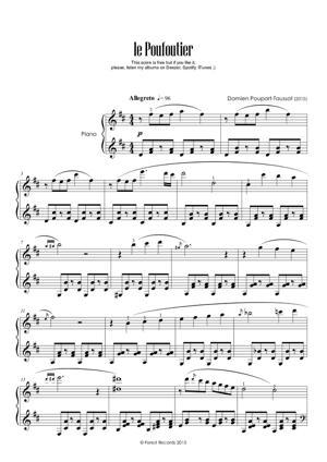 Sheet Music Damien POUPART-TAUSSAT - Le Poufoutier
