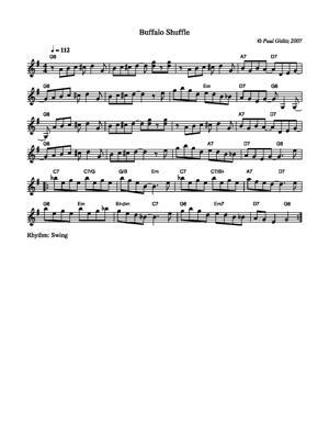 Sheet Music Buffalo Shuffle