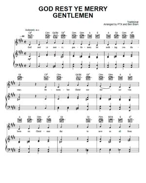Sheet Music Pentatonix - God Rest Ye Merry Gentlemen