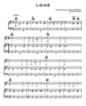 Sheet Music Nat king Cole - L-O-V-E
