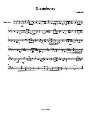 Sheet Music Greensleeves