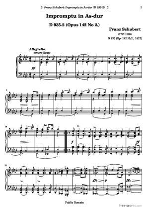 Sheet Music Impromptu in As-dur